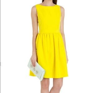 Ted Baker Juletee Bow Detail Dress Yellow 4/US 12